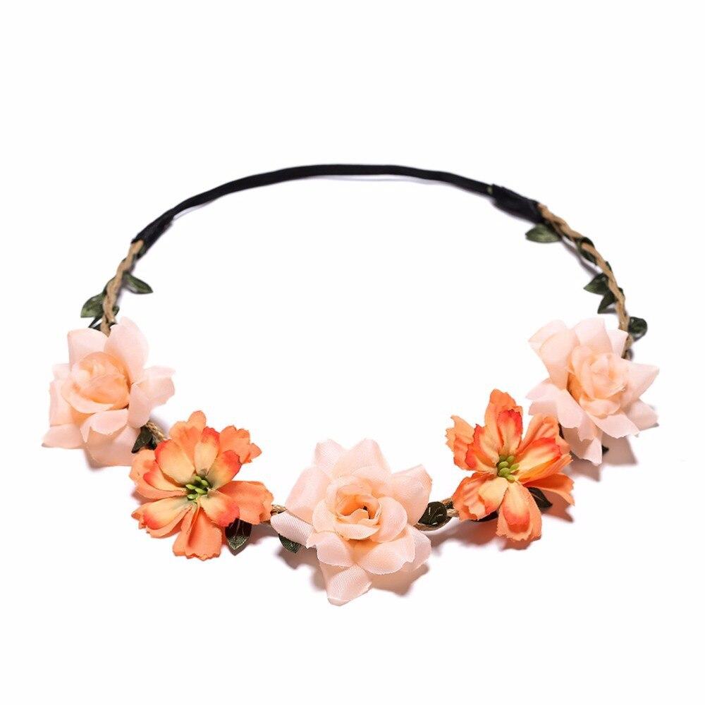 Cô Dâu Hoa Thái Tóc Cưới Hoa Đầu Vòng Hoa Bé Gái Hoa Vòng Hoa Thun Tóc Accessoriesparty Cưới Mũ Trụ