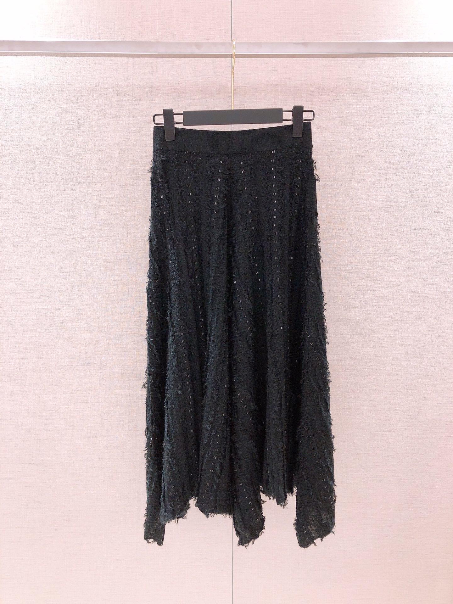 Half-Skirt Fringed Knitted Sexy Fashion Ladies New 0925 Rhinestone Irregular Pure-Color