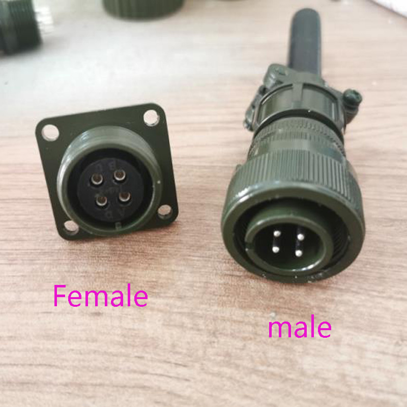 MS3106A14S 2P/3P/4P/5P/6P/7P Aviation Plug 14S-2-5-6-7-9-3 US Military Standard Connector MS3106A14S Socket