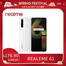Realme 6i versão global do telefone móvel 4/ 128gb plugue da ue mtk helio g80 5000 mah dewdrop display 6,5 smartphone