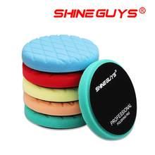 Shine guys 5.5 Polegada (135mm) almofadas de polimento de corte leve/médio/pesado & almofadas de polimento para 5