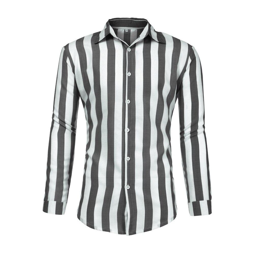 Men's Striped Short Sleeve Dress Shirt High Quality Cotton