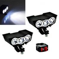 20w 30 luzes de trabalho led faróis da motocicleta 6000k branco luzes nevoeiro moto farol holofotes carro auxiliar lâmpada condução
