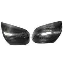 Mirror Cover For Tesla Model Y 2020-2021 LHD Car Exterior Window Door Side Wing Add On Real Glossy Carbon Fiber Rear View Caps