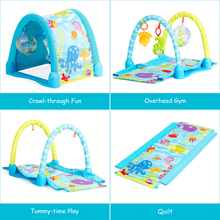 4-in-1 Activity Gym Play Mat Baby Activity Center w 3 Hanging Toys Baby Play