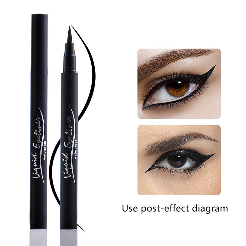 Black Eyeliner Best Waterproof Liquid Eye Liner Pen High Pigment & Long Lasting Makeup Eyeliner