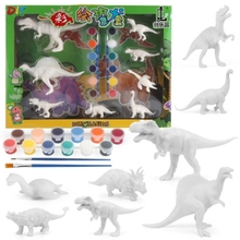 DIY kolorowanki do malowania zwierząt Model dinozaura rysunek akwarela Graffiti dzieci dzieci zabawki sztuki rzemiosła edukacyjnego tanie tanio OOTDTY CN (pochodzenie) Z tworzywa sztucznego 4n820 Unisex 3 lat