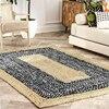 Rug Cotton and Natural Jute Rug Braided Reversible Modern Rustic Decorative Look Living Area Carpet Non-slip Handmade Carpet