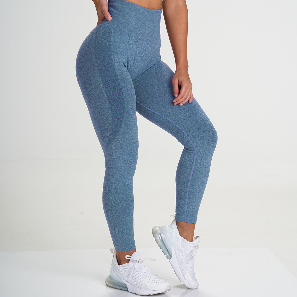 Women Gym Yoga Seamless Pants Hips Push Up Run Sports Stretchy High Waist Athletic Fitness Leggings Lifting Activewear Pants