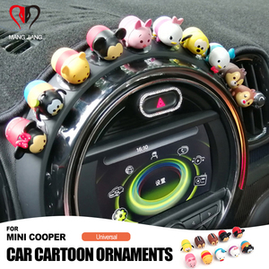 Image 1 - Universal for Mini Cooper Cartoon Fashion Cool Decoration Lovely Pig Dog Bear Style Plush Toy Decoration Interior Accessories
