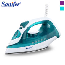 1600W Portable Mini Electric Garment Steamer Steam Iron For Clothing Iron Adjustable Ceramic Soleplate Iron For Ironing Sonifer
