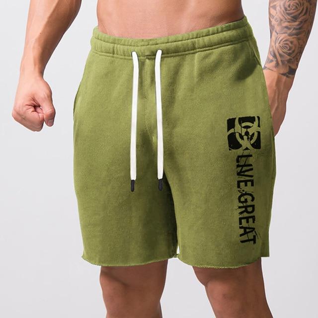 Men New Cotton Shorts Men's loose Short Trousers Fitness Bodybuilding Jogger Mens Brand durable Sweatpants Fitness Workout Short 8