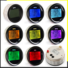 Waterproof Digital GPS Speedometer Odometer For Auto Marine Truck With 7 Color Backlight 3 3/8 (85mm) 9 32V