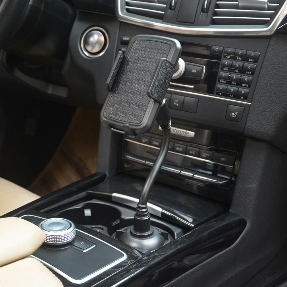 Car Drink Cup Support Mobile Phone Holder Smartphone GPS Navigation Mount Stand Cell Phone Bracket Car Interior Accessories
