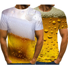 Tops Clothing Short-Sleeve Street-Outfit Novelty t-Shirt Beer 3d-Printed Funny Fashion