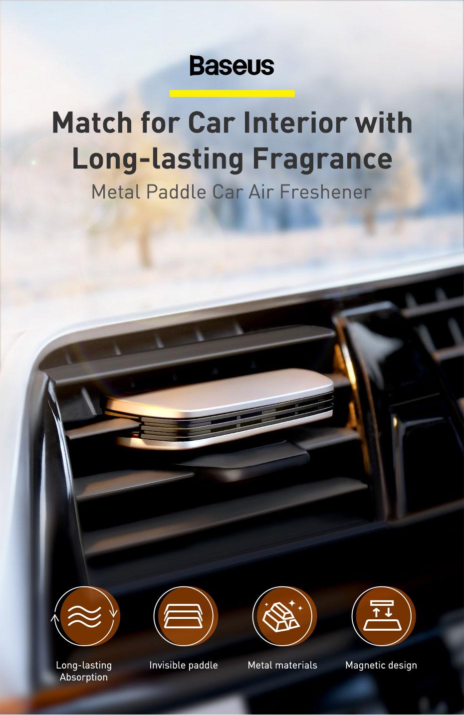 Baseus Metal Paddle Car Air Freshener 3