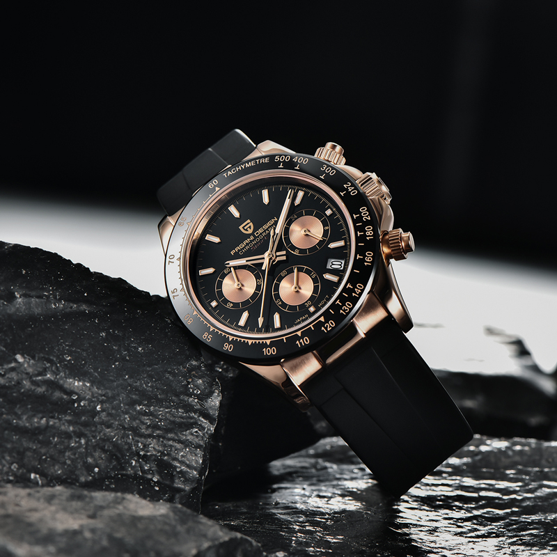 2020 New PAGANI DESIGN Mens Quartz Watches Automatic Date Luxury Gold Wristwatch Men Waterproof Chronograph Japan VK63 Clock man