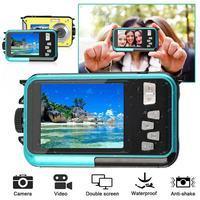 BEESCLOVER TFT Цифровая водостойкая камера 24MP MAX 1080P двойной экран 16x цифровой зум видеокамера HD268 подводная камера r20