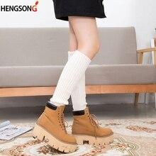 Socks Leg-Warmers Sports Winter Kneepad Long Knitted Plush-Tube Girls Soft Women 10-Colors