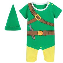 Macacão infantil para meninos, fantasia de zelda, traje de cosplay para recém-nascidos, fantasia de inverno para meninos