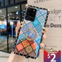 MUSUBO-funda 3D para Samsung Galaxy Note 20 Ultra S21 S8 S10 PLUS S9 A71 A51 A72 A52, funda cuadrada de silicona suave
