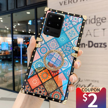 MUSUBO 3D etui do Samsung Galaxy Note 20 Ultra S21 S8 S10 PLUS S9 A71 A51 A72 A52 kwadratowy futerał na telefon miękki silikon Coque okładka