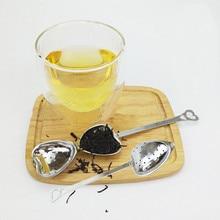 Ложка в форме сердца из нержавеющей стали, фильтр для кофе и чая, ложка с цепочкой, ситечки для чая, многоразовые Принадлежности для бара, инструменты для чая