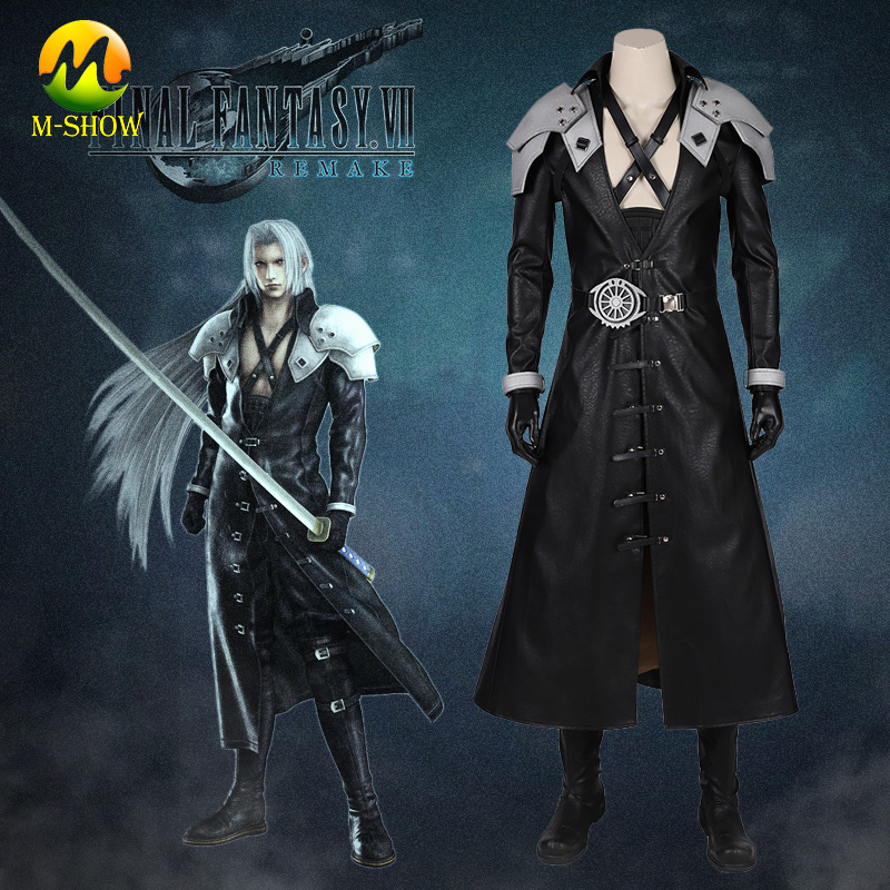 Us 63 92 20 Off Final Fantasy Vii Cosplay Sephiroth Costume Halloween Fancy Suit For Men Hot Video Game Ff7 Sephiroth Cosplay Outfit Custom Made In