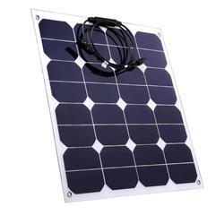 High efficiency Sunpower cell 50W Semi Flexible solar panel from China 2pcs
