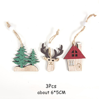 3Pcs Tree Elk Horse