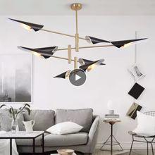 Роскошная люстра в стиле постмодерн вращающаяся лампа для гостиной