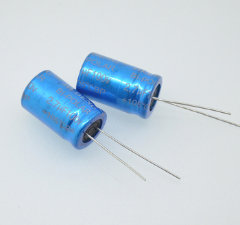 1pcs 2.7UF/100V frequency division dedicated non-polar capacitor electrolytic capacitor vertical tweeter capacitor image