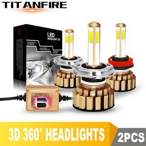 TF30 4 стороны 10000лм H8 H11 9005 9006 H4 H7 светодиодный фары для автомобиля авто светодиодный налобный фонарь Hi/Low C6 S2 12V 24V 6000K