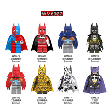 Single Sale Building Blocks Super Hero Batman Deadpool Leopard Stripe Batman Cow Huntress Toys For Children Gifts DIY WM6027 pogo harley quinn figure single sale xinh 257 building blocks dc batman superhero models kids toys for children