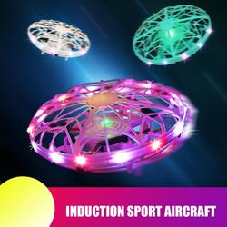 1pcs Flynova Mini Drone Free Route Rotary Quad Induction Levitation UFO Hand-controll Children's Funny Toys Gifts For New Year