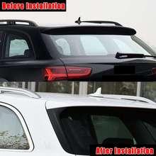 Carbon Schwarz Aussehen Hinteren Fenster Seite Spoiler Spoiler Canard Canards Splitter Für Audi A6 C7 Allroad TDI Quattro für Avant 2012-18