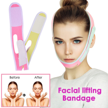Face Slimming Bandage V-Line Lift Up Mask Belt Facial Shaping Strap Re