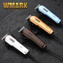 Wmark profissional com fio aparador de cabelo 6000 6500rm dc motor afiada e luz lâmina livre conjunto com 6 tamanho guia pente NG 555