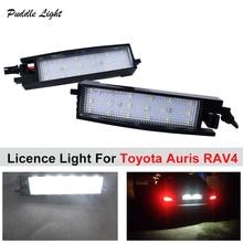 2pcs 18SMD LED License Number Plate light No Error For Toyota Auris 2014 RAV4 XA40 2013~2015 Car accessory lamps
