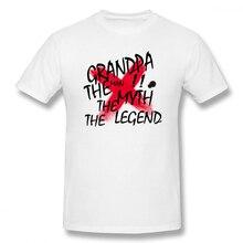 Grandpa The Man Myth Legend t shirt men Casual Fashion Mens Basic Short Sleeve T-Shirt