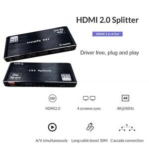Image 5 - HDMI dağıtıcı 1 4 Out HDMI 1x4 Port 4K @ 60hz HDMI 2.0b tam Ultra HD 1080P, 3D, HDCP2.2 18Gbps, HDR, EDID Xbox