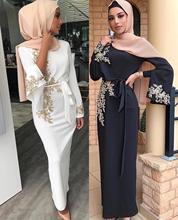 Vestido Abaya musulmán de Dubái para mujer Hijab Abayas, caftán marroquí, vestidos turcos, ropa islámica de oración