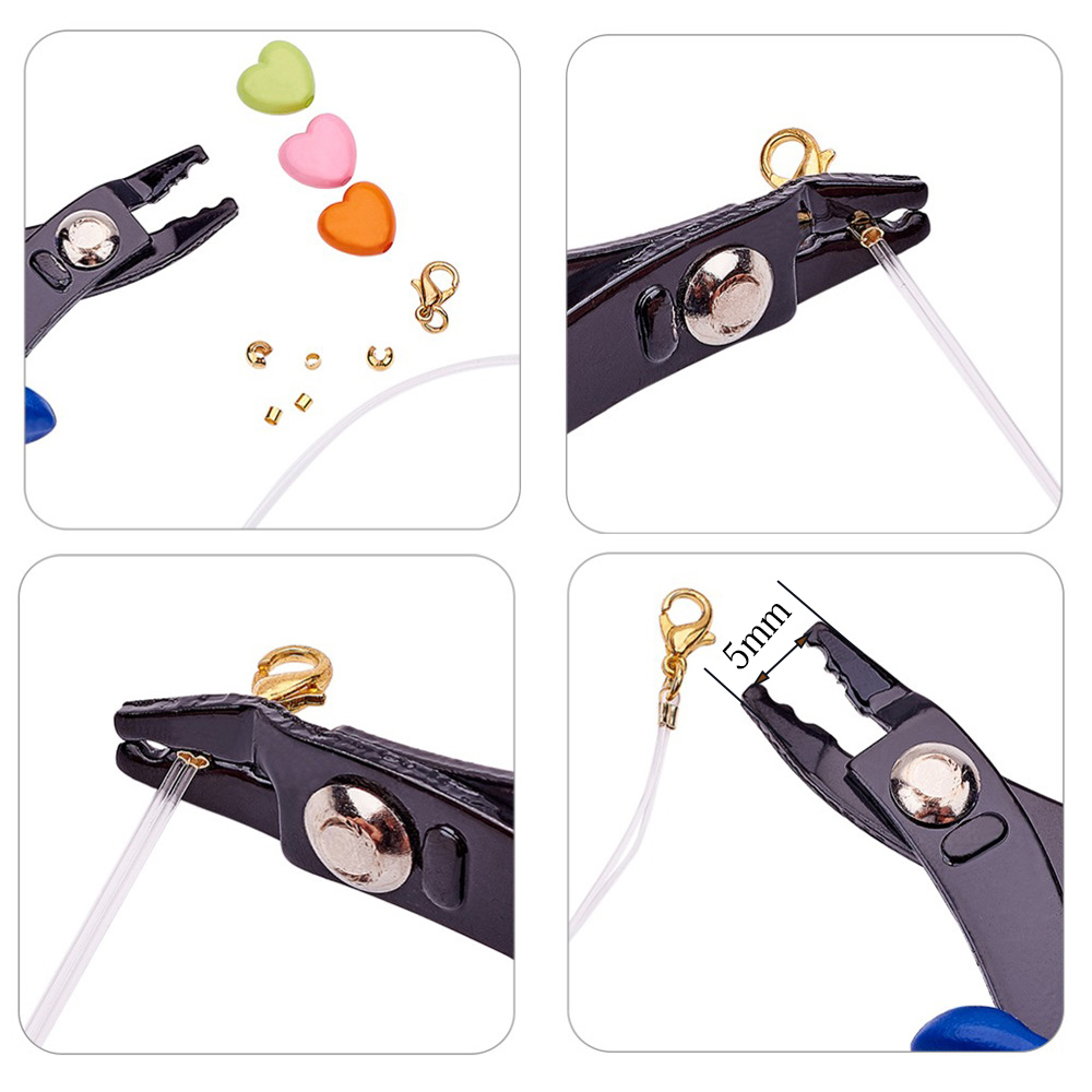 Купить с кэшбэком Multifunction Split Ring Opener Pliers Jewelry Beading Crimping Crimper Pliers Tool With Mini Diagonal Pliers DIY Hand Tools
