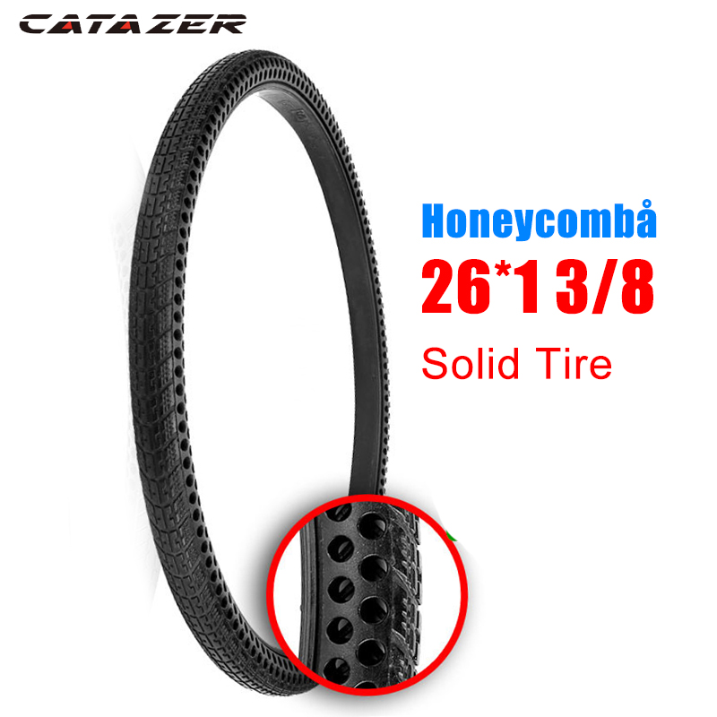 26 inch 26x1 3/8 Honeycomb Solid Tire Non inflation MTB Solid Fixed Gear Road Bike Tire Bicycle Tire Cycling Tubeless Tyre