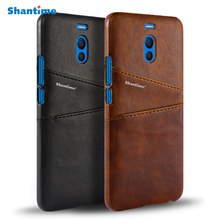 Pu Leather Back Cover For Meizu M6 Note Wallet Case For Meizu M6T Business Card Slots Case For Meizu 15 15 Plus Phone Bag Case cheap Shantime Exotic Matte Plain vintage Dirt-resistant Anti-knock With Card Pocket Other