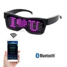Led sunglasses diy luminous emotions led glasses bluetooth dj