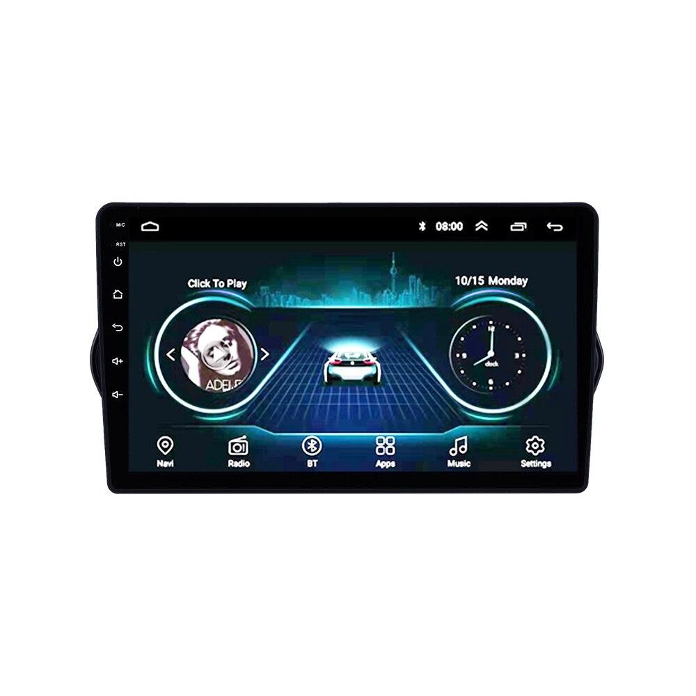 Polegada 2 9 din Android 8.1 Car Multimedia player Wifi Navegação GPS unidade de cabeça Autoradio Para Fiat EGEA 2015-2018