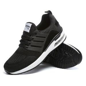 Image 3 - Flarut Men Tennis Shoes Air Cushion Lace Up Men Sport Shoes Breathable Mesh Sneakers Black Tenis Hombre Trainers Athletic Shoes