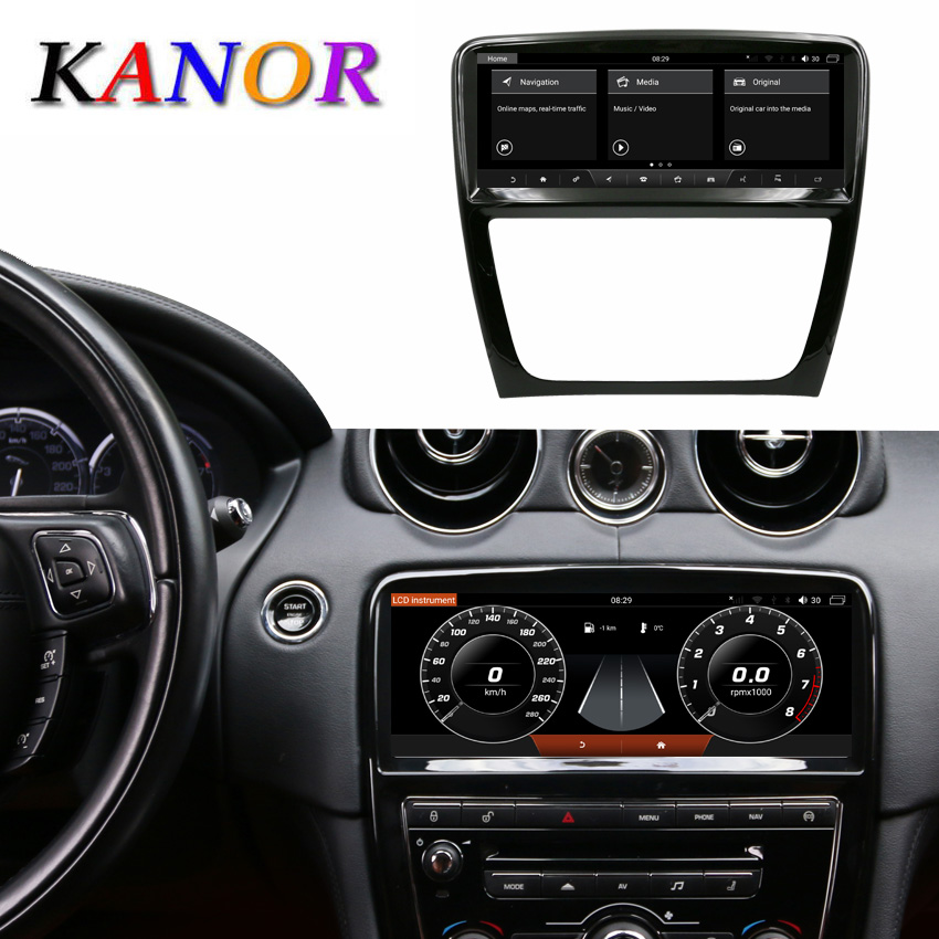 KANOR 10.25 inch Touch Screen Android 9.0 4+64G Car GPS Multimedia Navigation For Jaguar XJ XJL 2012-2016 Autoradio Stereo image
