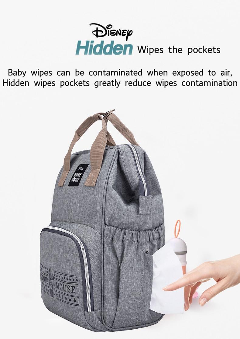 Disney Diaper Bag Backpack Baby Bags for Mom Mummy Nappy Bag Multi-function Stroller Girl Baby Care Travel Maternity Pram